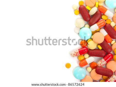 Drug in vial isolated on white background