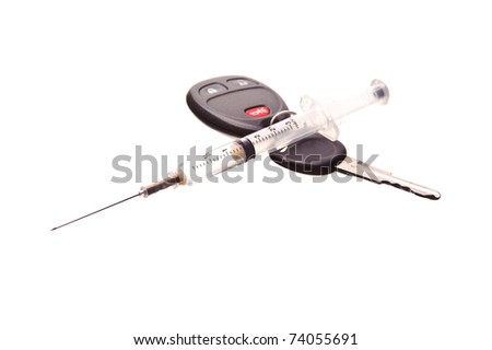 drug needle and car keys