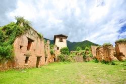 Drukgyal Dzong Ruins in Paro, Bhutan