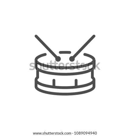 Drum line icon isolated on white