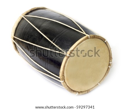 Drum of native Indian music - stock photo