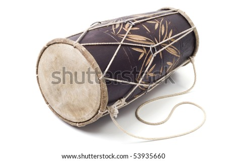 drum on the isolated white background