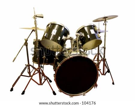 Drum Set Clipart Black And White Drum Set