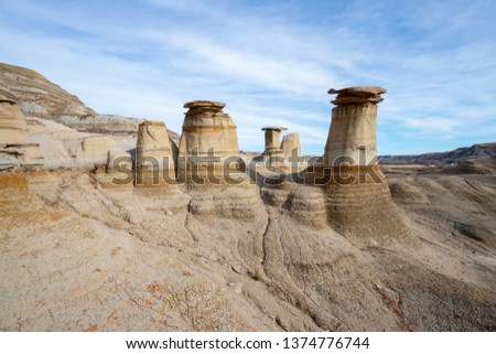 Drumheller HooDoos is a 0.5 kilometer heavily trafficked loop trail located near Drumheller, Alberta, Canada that features a cave. Tourism, Travel Alberta, Holiday, Vacation, Interesting landscape