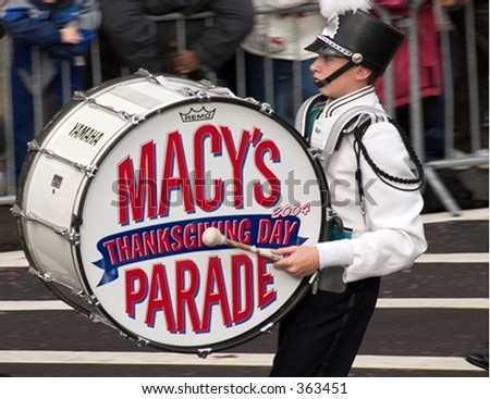 Drummer at the Macy's Thanksgiving Day parade in New York City.