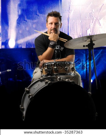 drummer on stage