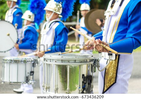 Drummer snare percussion marching band