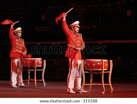 Drummers of the Chinese Army, Edinburgh Military Tattoo, Scotland