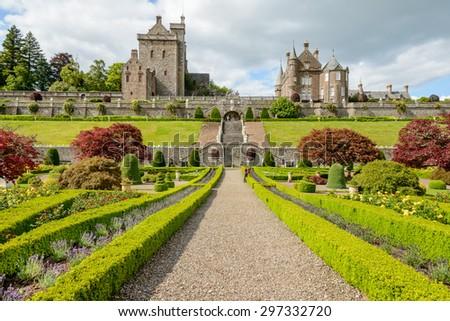 Drummond Castle and Gardens near Crieff in Perthshire, Scotland. #297332720