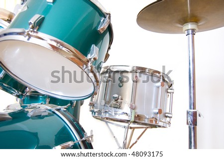 Drums conceptual image. Drums on isolated background.