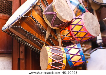 Drums from Moroccan Market