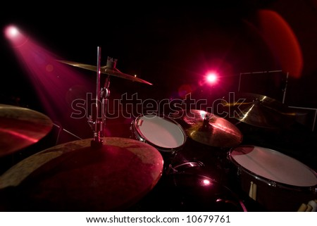 Drums in the red light