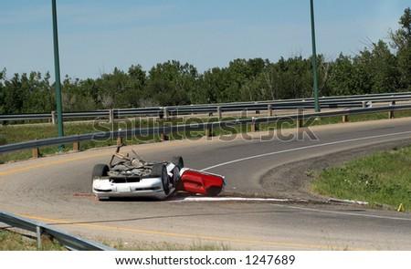 Drunk Driver Crashes Car