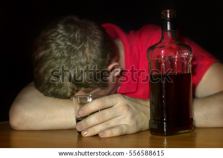 com Drunk With Glass Stock Avopix Photo Depressed 136932866 - Man And A A…