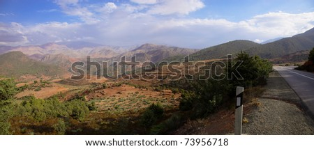Dry and arid landscape in Morocco