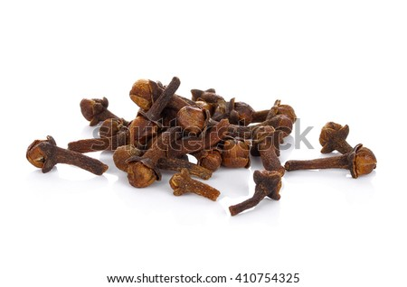 dry cloves on white background #410754325