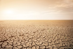 Dry cracked ground. Global warming and greenhouse effect concept.
