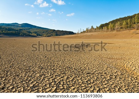 dry dam drought in spain