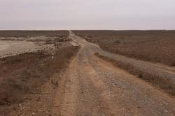 Dry fields and blue sky landscape