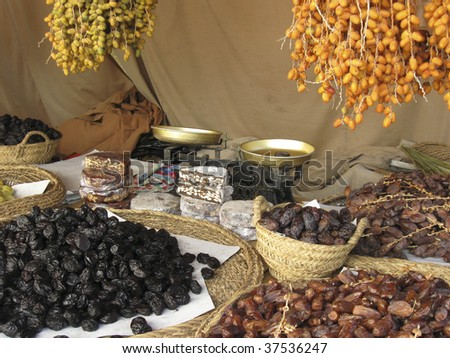 Dry fruits at the arabic market in portugal
