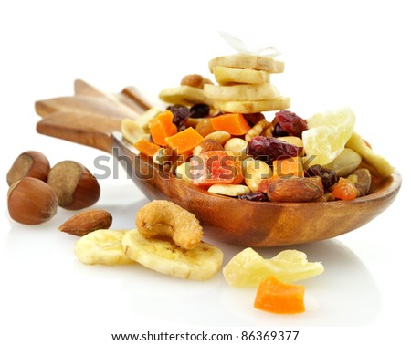 Dry Fruits Mix In A Wooden Dish