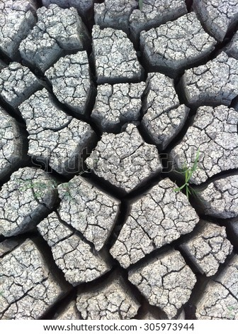 Dry ground with big holes. Concept: drought,ecology,background,environment
