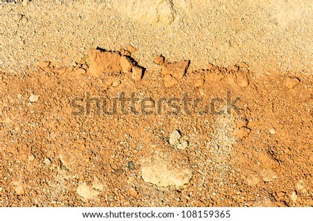 Dry ground with stones background