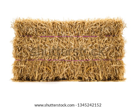 dry haystack isolated on white background #1345242152