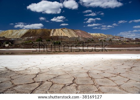 Dry landscape in horizontal composition