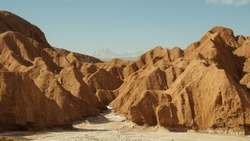 Dry landscape of the Atacama desert near san pedro de atacama in Chile, South America.
