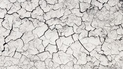 Dry mud cracked ground texture. Drought season background