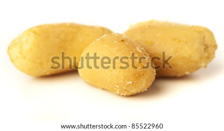 dry nut isolated on a white background
