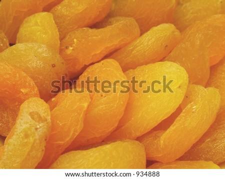 Dry peach closeup
