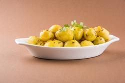 dry potato curry, potato bhaji, aalu bhaji or sabji, indian main course