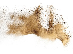 Dry river sand explosion