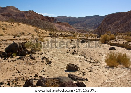 Dry riverbed in Red Rock Canyon State Park