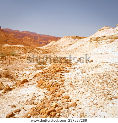 Dry Riverbed in the Judean Desert, Instagram Effect