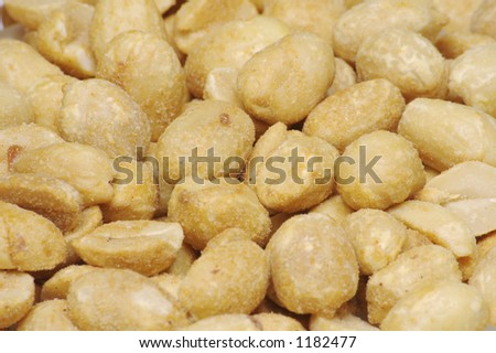 Dry Roasted Peanut Background