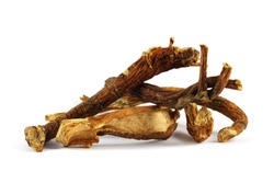 Dry root of yellow gentian (Gentiana lutea L.). Gentian root (Gentianae radix) has been used for centuries to stimulate appetite, improve overall digestion, and to treat  GI complaints.