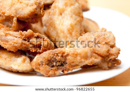dry rub oriental style chicken wings, grilled and tasty finger food