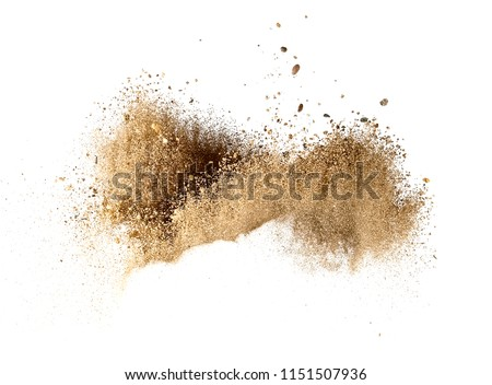 Dry sand explosion #1151507936