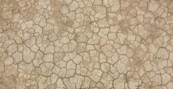 Dry soil and cracked earth background texture.