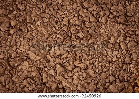 Dry soil closeup before rain #92450926