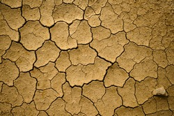 Dry soil due to degradation