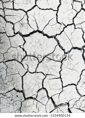Dry soil surface, soil surface texture for background #1334400134