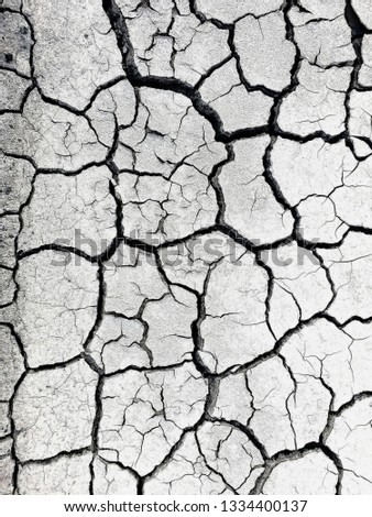 Dry soil surface, soil surface texture for background #1334400137