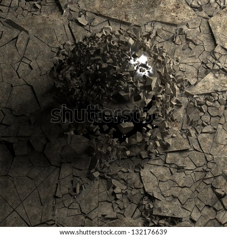 dry soil texture background High resolution 3d render