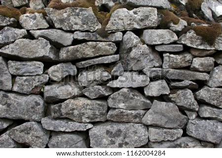 Dry stone wall detail in the Peak District, England. #1162004284