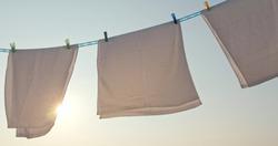 Dry towel under sunset