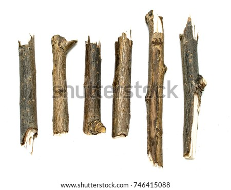 dry twigs isolated on white background #746415088